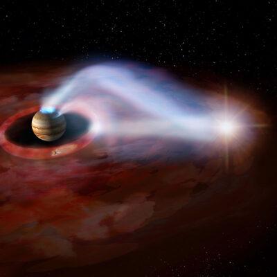 Jupiter's volcano-powered auroral lights