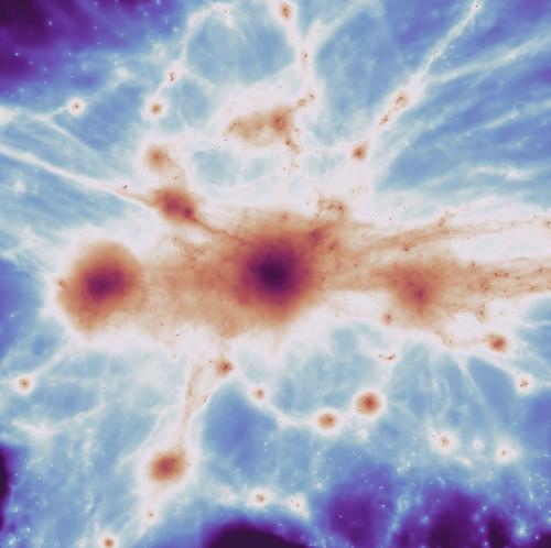 Massive filaments, galaxies, and supermassive black holes