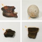 Tape and vermilion: ingredients for mapping artifact origins