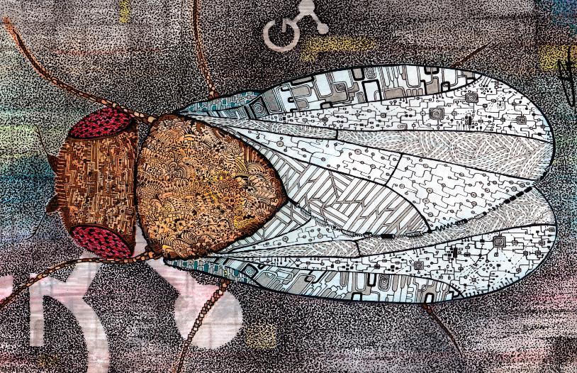 Complexity, a watercolor by Irene Gutierrez for FlyStuff