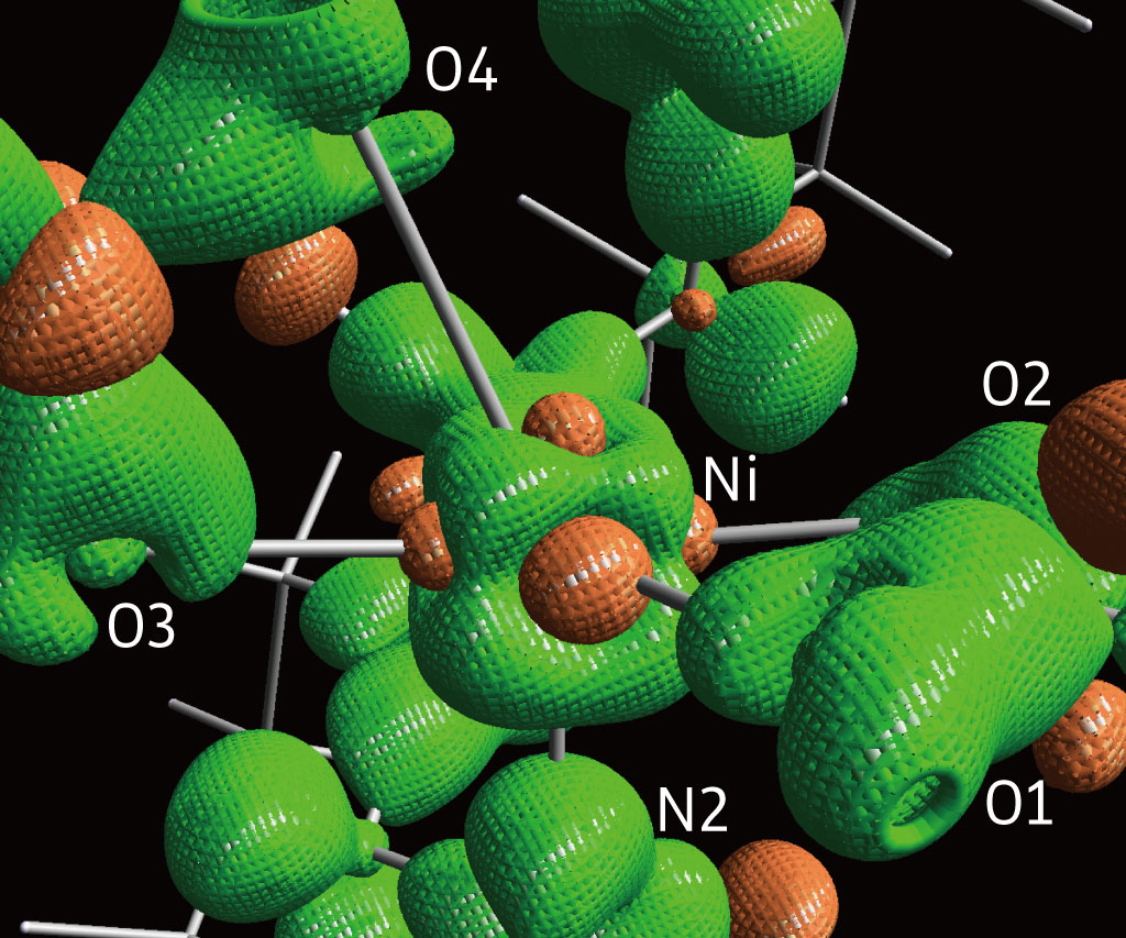 3D isosurface static deformation density of I