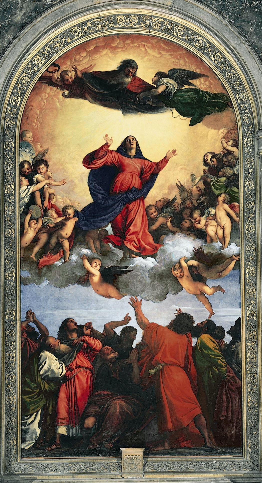 the painting titled assumption of the virgin