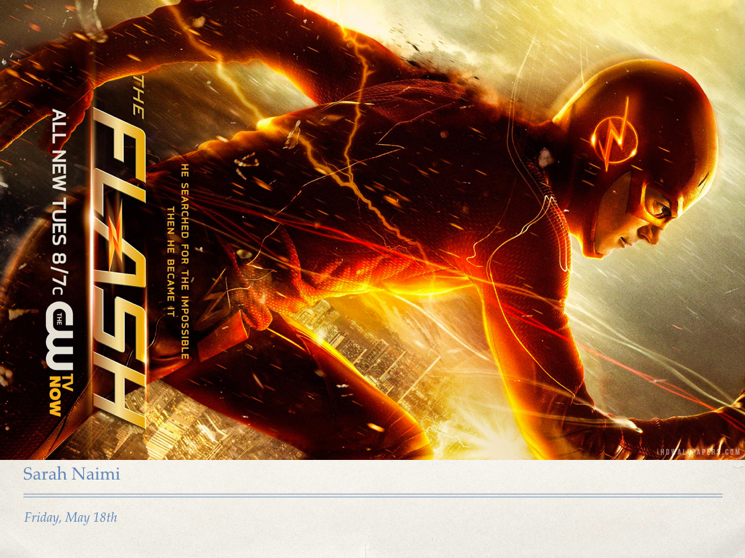 advert for the FLASH TV show