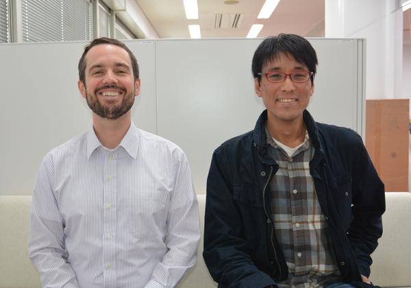 Figure 2. Kylius Wilkins and Masaki Watabe posing as robots.