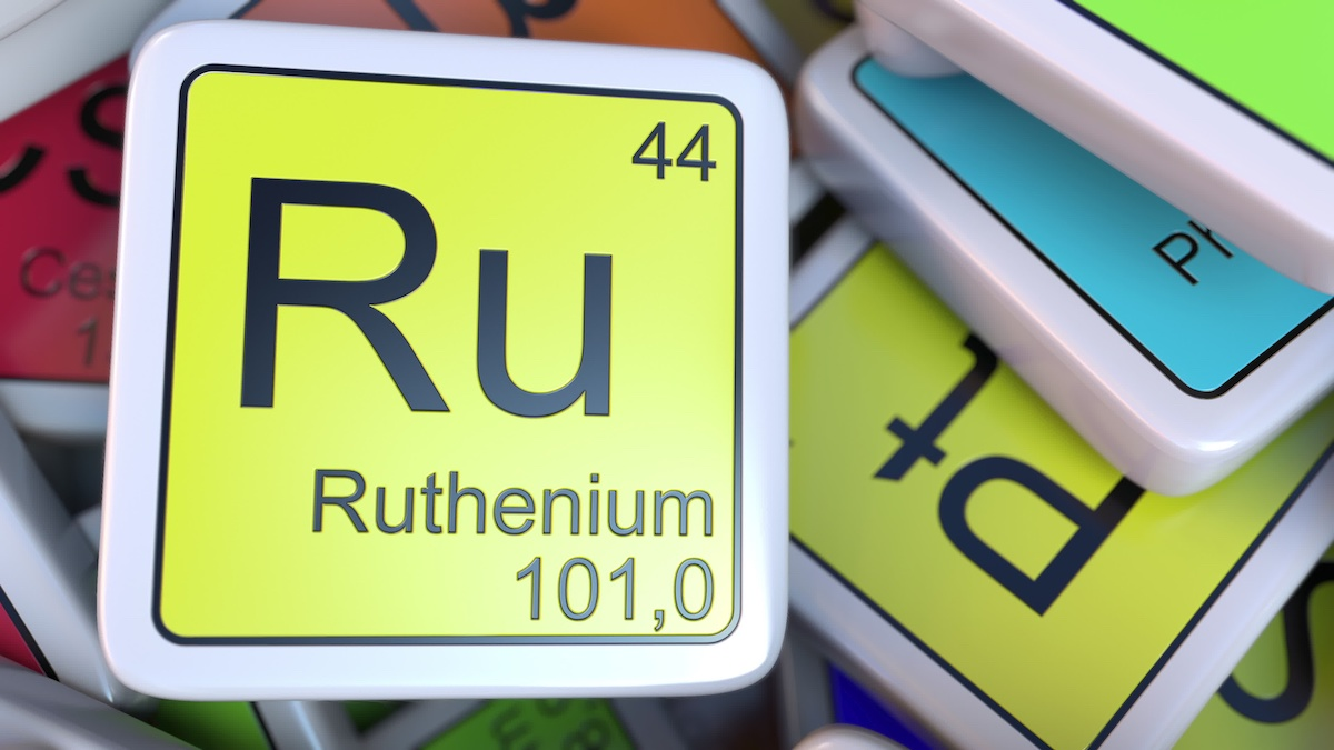 ruthineum used in metalloenzyme