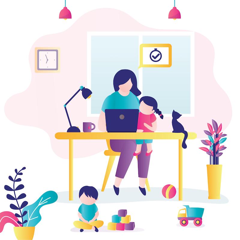 telework with kids